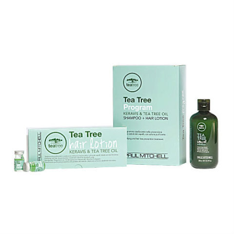 Paul Mitchell Tea tree Program Shampoo 300ml + Hair Lotion 12 vials-antihairloss