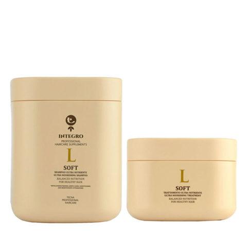 Tecna Integro Soft Kit Shampoo 1000ml Treatment 500ml