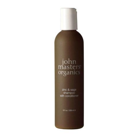 John Masters Organics Haircare Zinc & Sage Shampoo with Conditioner 236ml
