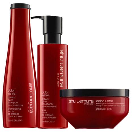 Shu Uemura Color lustre kit shampoo 300ml conditioner 250ml masque 200ml