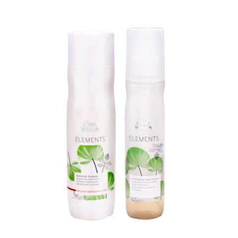 Wella Professionals Elements shampoo 250ml leave-in spray 150ml