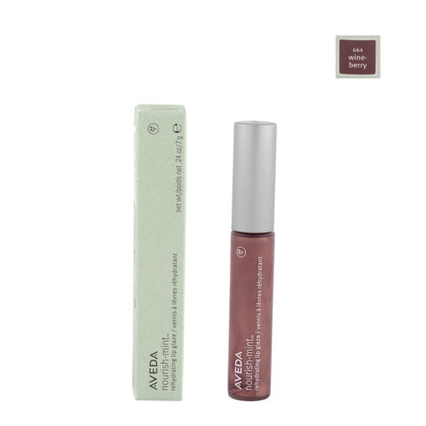 Aveda nourish-mint™ rehydrating lip glaze 644 wineberry 7gr