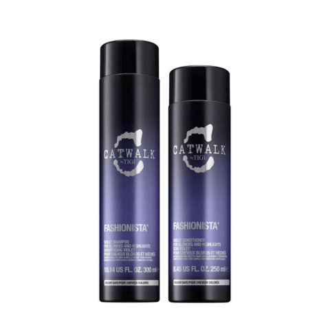 Tigi Catwalk Fashionista Violet kit shampoo 300ml conditioner 250ml
