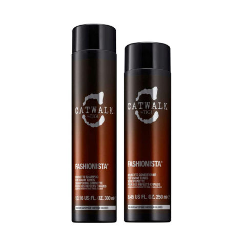 Tigi Catwalk Fashionista Brunette kit shampoo 300ml conditioner 250ml