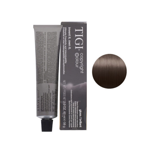 6/08 dark natural ash blonde Tigi Gloss 60ml
