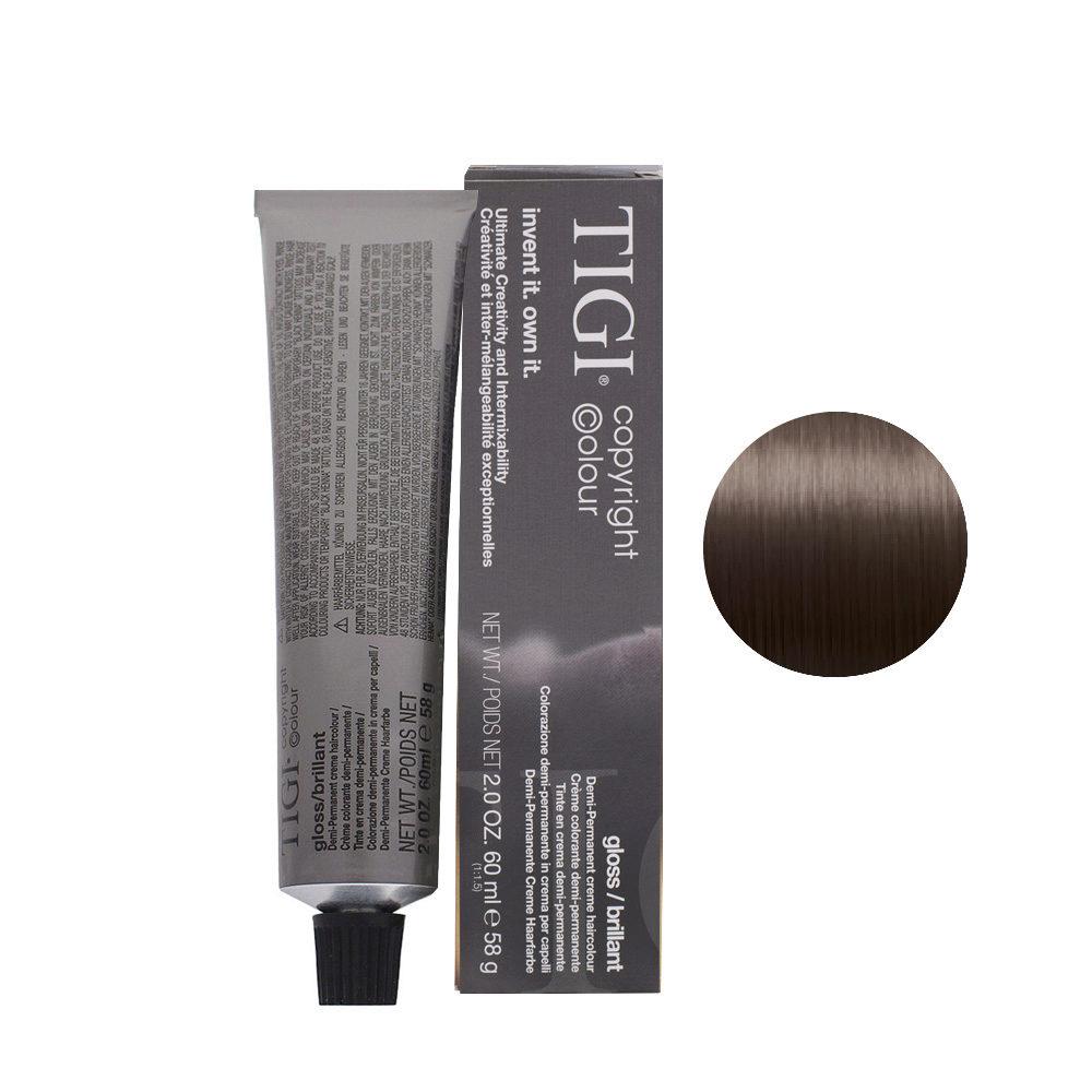 6/08 dark natural ash blonde Tigi Gloss 60ml