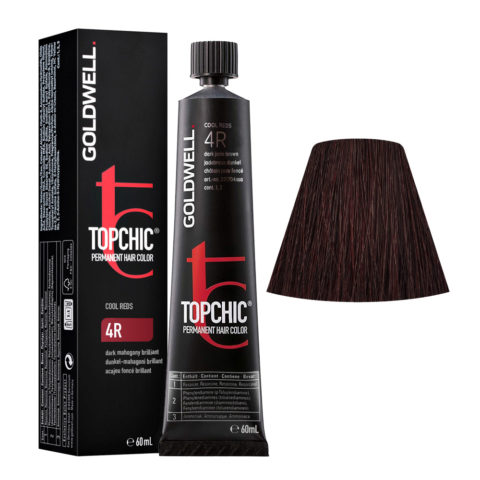 4R Dark mahogany brilliant Goldwell Topchic Cool reds tb 60ml