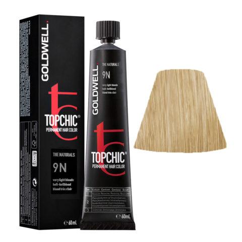 9N Very light blonde Goldwell Topchic Naturals tb 60ml