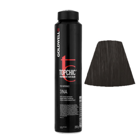 3NA Dark natural ash brown Goldwell Topchic Naturals can 250gr