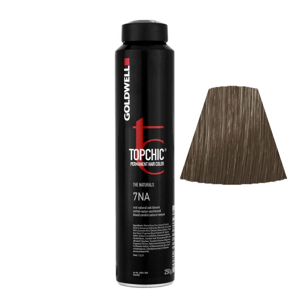 7NA Mid natural ash blonde Goldwell Topchic Naturals can 250gr