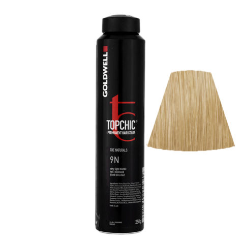 9N Very light blonde Goldwell Topchic Naturals can 250gr