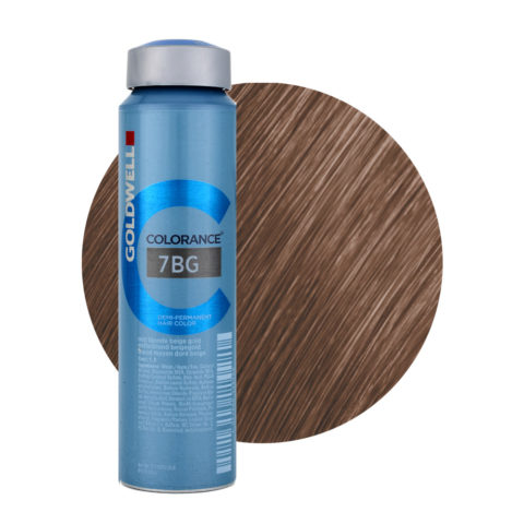 7BG Mid blonde beige gold Goldwell Colorance Warm browns can 120ml