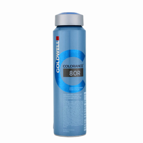 8OR Light blonde orange-red Goldwell Colorance Warm reds can 120ml
