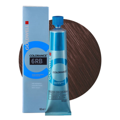 6RB Mid red beech Goldwell Colorance Warm browns tb 60ml