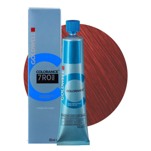 7RO MAX Striking red copper Goldwell Colorance Warm reds tb 60ml
