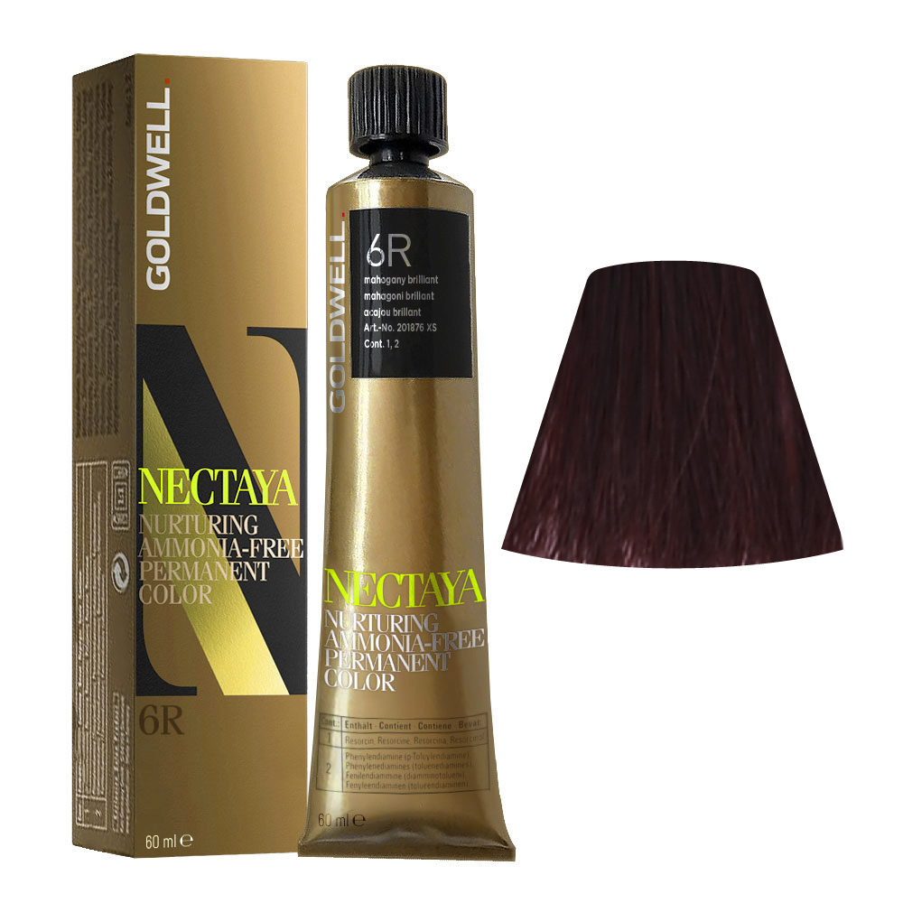 6R Mahogany brilliant Goldwell Nectaya Cool reds tb 60ml
