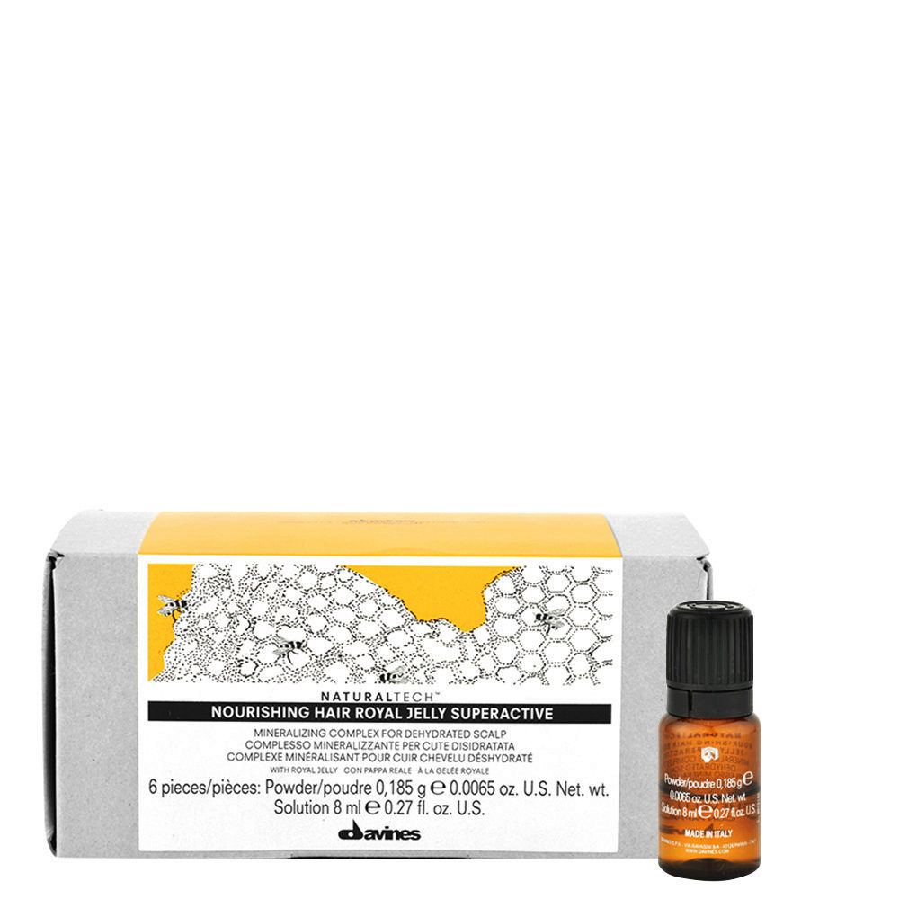 Davines Naturaltech Nourishing Royal Jelly Superactive 6x8ml - Soothing treatment