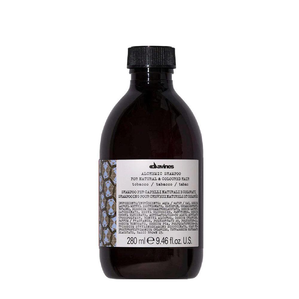 Davines Alchemic Shampoo Tobacco 280ml - for brown hair colour