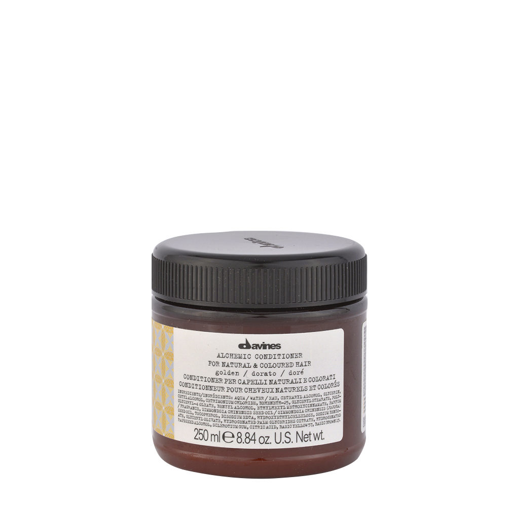 Davines Alchemic Conditioner Golden 250ml - Coloured conditioning cream for golden blonde