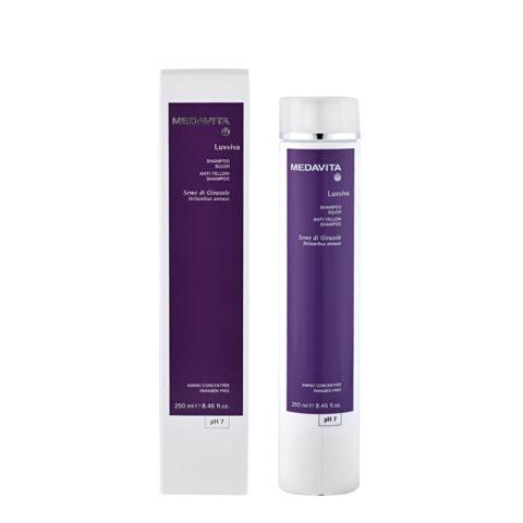 Medavita Lenghts Luxviva Anti-yellow shampoo pH 7,  250ml