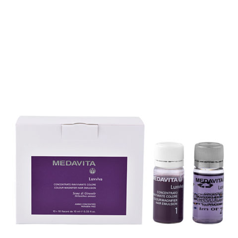 Medavita Lenghts Luxviva Colour magnifier hair emulsion 2x10x10ml