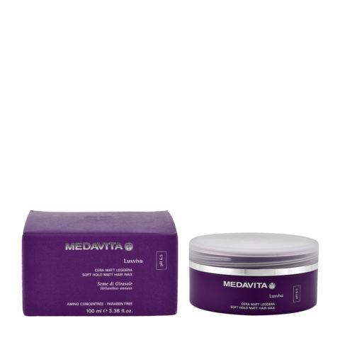 Medavita Lenghts Luxviva Soft hold matt hair wax pH 6.5  100ml