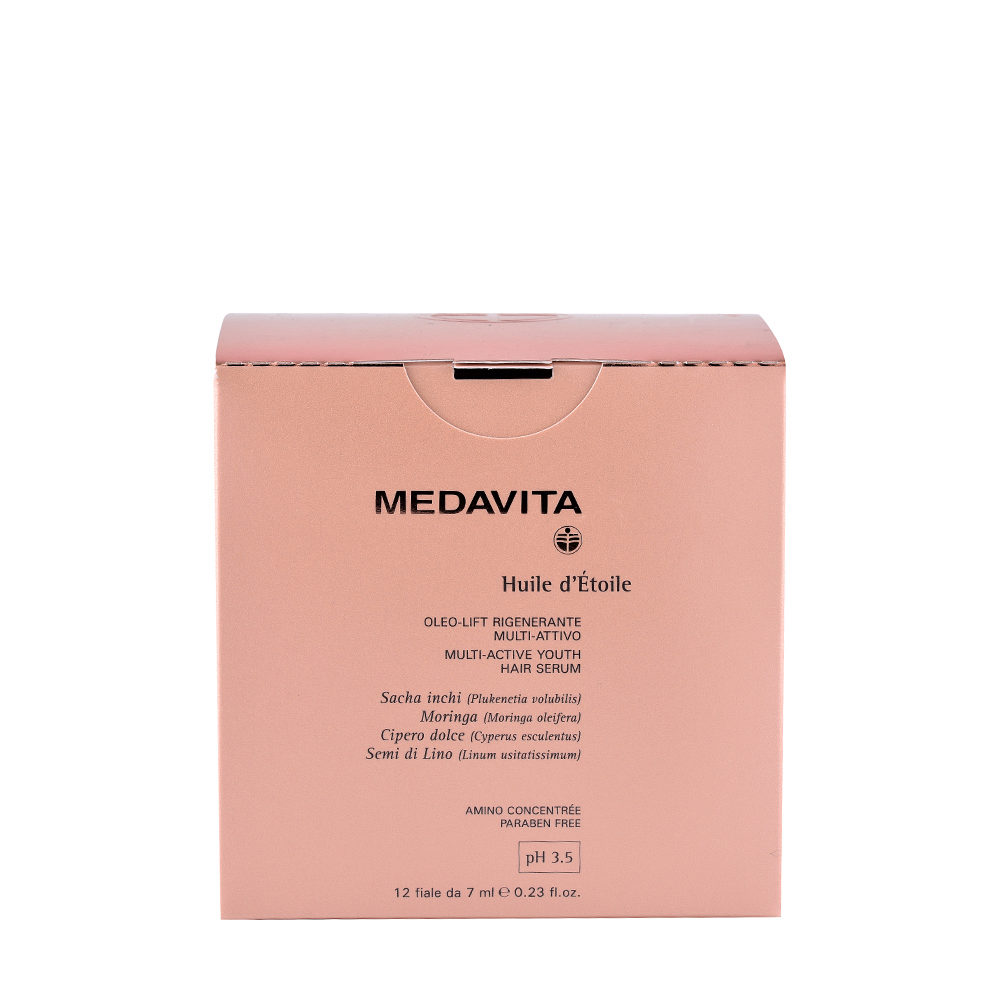 Medavita Lengths Huile d'etoile Multi-active youth hair serum pH 3.5  12x7ml