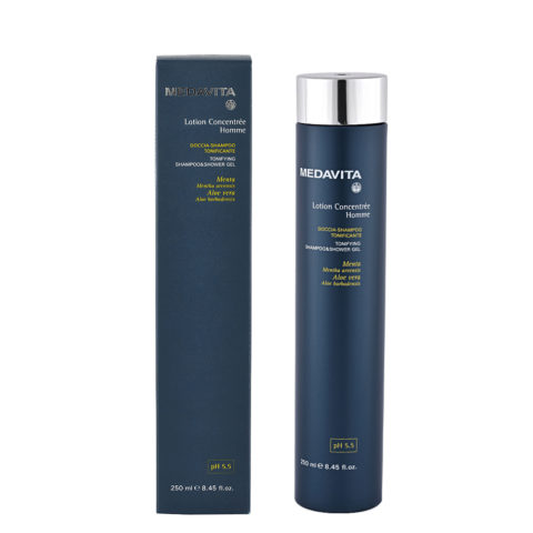 Medavita Scalp Lotion concentree homme shave Tonifying shampoo & shower gel pH 5.5  250ml