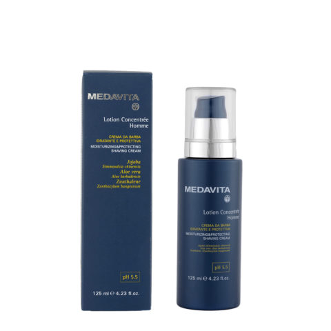 Medavita Scalp Lotion concentree homme shave Moisturizing & protecting shaving cream pH 5.5  125ml
