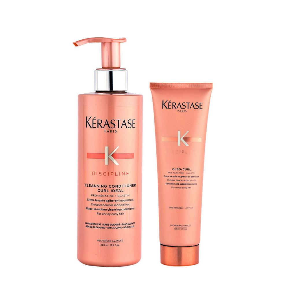 Kerastase Discipline Curl ideal Kit 2in1 Shampoo 400ml e Curl Defining Cream 150ml