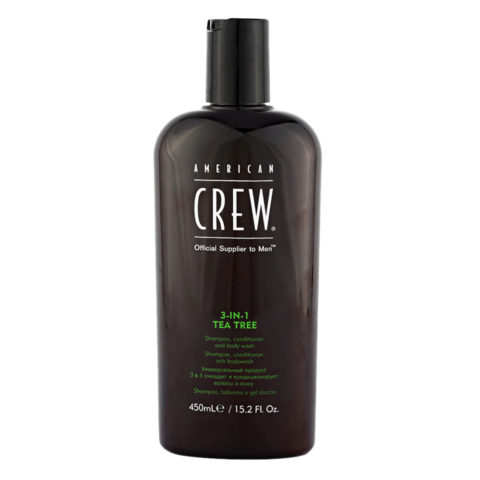 American crew Tea Tree 3 in 1 Shampoo Conditioner and Body Wash 450ml