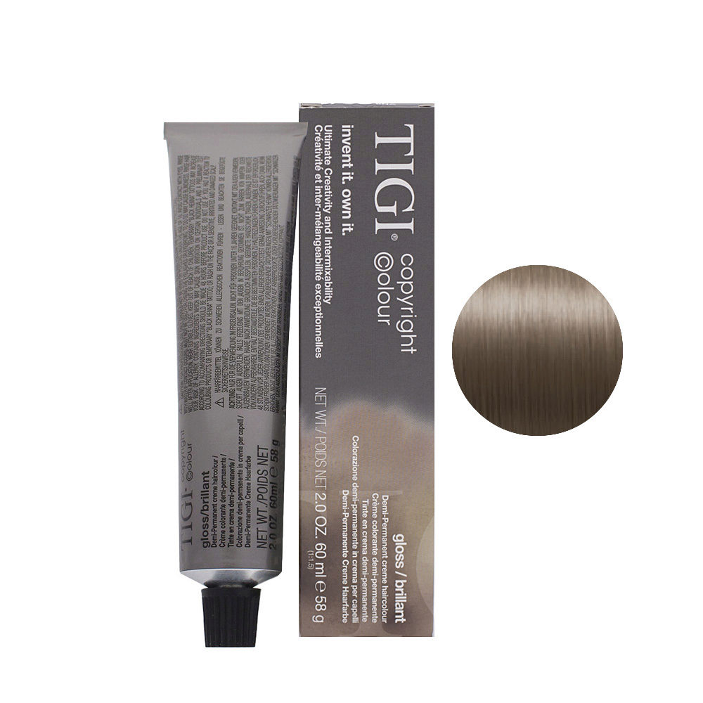 8/08 Light natural ash blonde Tigi Gloss 60ml