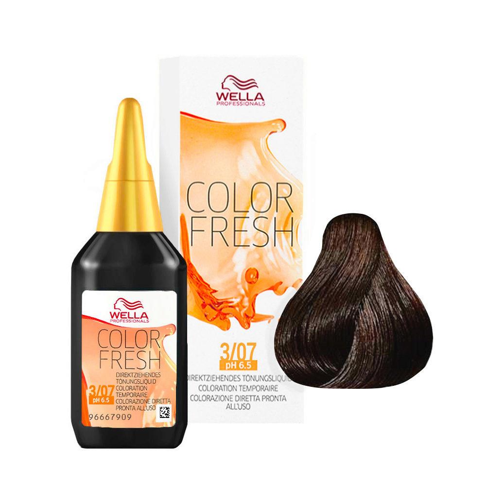 3/07 Dark brown natural brown Wella Color fresh 75ml