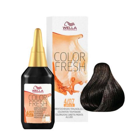 4/07 Mid brown natural brown Wella Color fresh 75ml