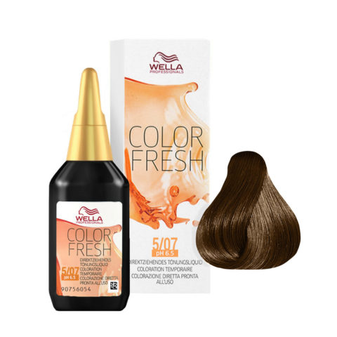 5/07 Light brown natural brown Wella Color fresh 75ml