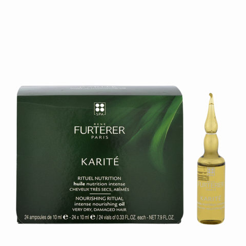 René Furterer Karité Intense Nourishing Oil 24x10ml - pre-shampoo luxurious hair oil
