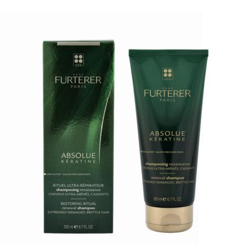 René Furterer Absolue Kératine Renewal Shampoo 200ml - Extremely Damaged, Brittle Hair