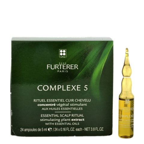 René Furterer Complexe 5 Stimulating Concentrate 24x5ml - vegetable scalp concentrate