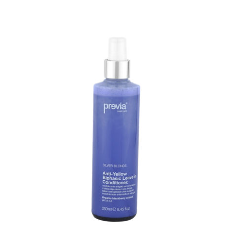 Previa Silver Blonde Anti-Yellow Biphasic Leave in Conditioner 250ml - anti-yellow conditioner without rinsing