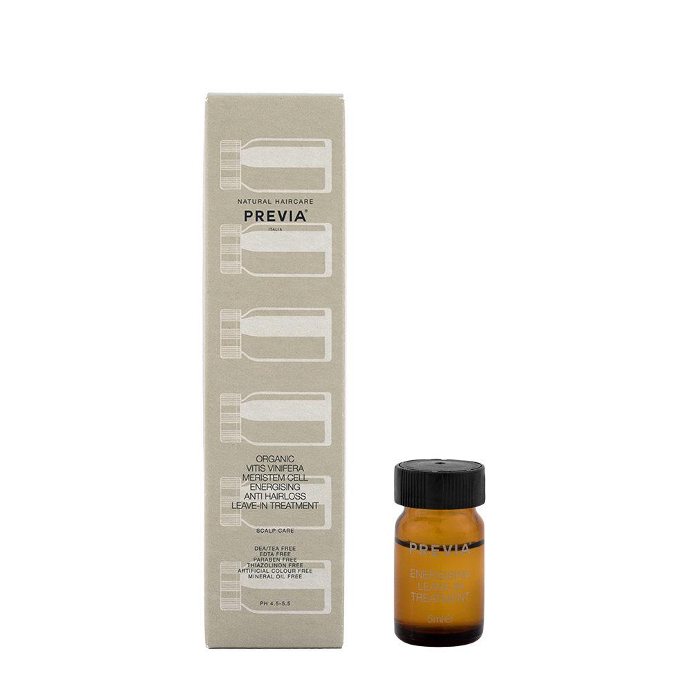 Previa Organic Vitis Vinifera Meristem Cell Energising Anti Hairloss Leave in Treatment 12x5ml