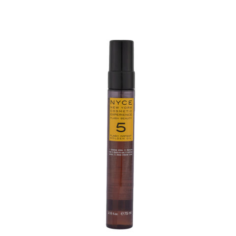 Nyce Flash Beauty Instant Golden Oil 75ml - Restructuring oil for dry hair