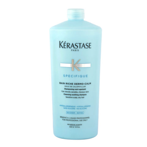 Kerastase Specifique Bain Riche dermo-calm 1000ml - Soothing and Purifying Shampoo