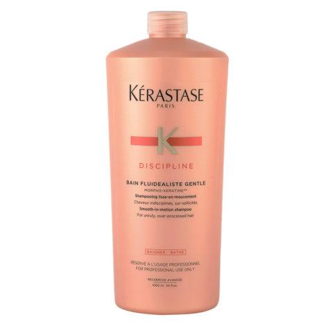 Kerastase Discipline Bain Fluidealiste Gentle 1000ml - Antifrizz Gentle Shampoo