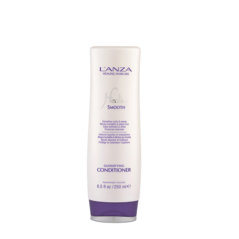 L' Anza Healing Smooth Glossifying Conditioner 250ml - antifrizz illuminating conditioner