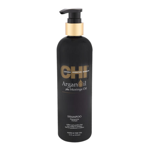 CHI Argan Oil plus Moringa Oil Shampoo 355ml - nutrition shampoo