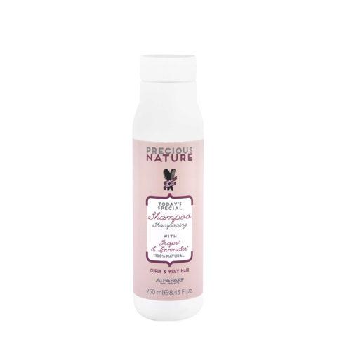 Alfaparf Precious Nature Shampoo With Grape & Lavender For Curly & Wavy Hair 250ml