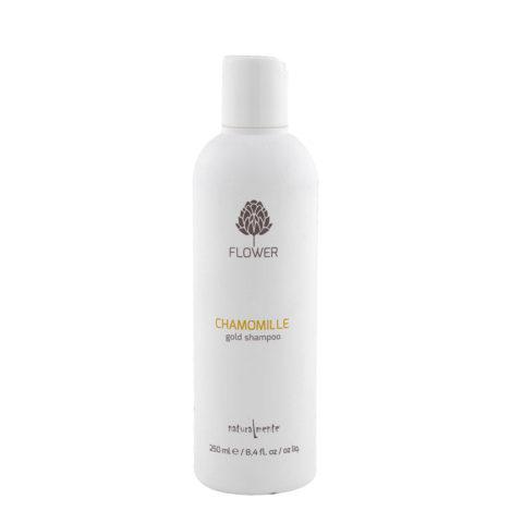 Naturalmente Flower Shampoo Chamomile 250ml - gold shampoo
