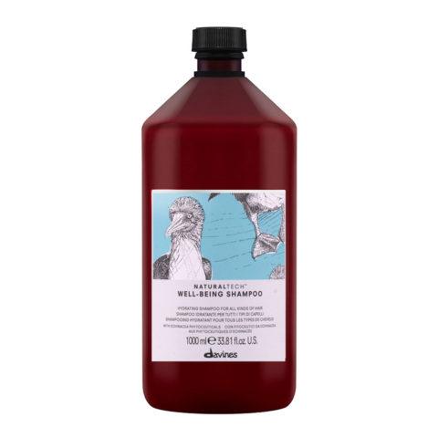 Davines Naturaltech Wellbeing Shampoo 1000ml - Moisturizing shampoo