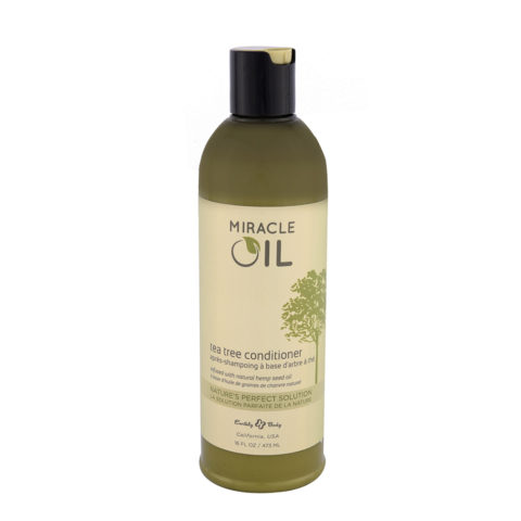 Earthly Body Miracle Oil Tea Tree Conditioner 473ml - with natural hemp seed oil