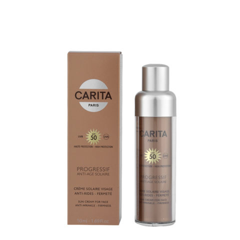 Carita Progressif Anti-Age Solaire Sun Cream for Face Anti wrinkle Firmness SPF50, 50ml